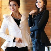Wholesale Womens coat clothing One Button Lapel Casual Suits Tuxedo Blazer Jacket Outerwear Coats