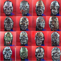 Wholesale The Mask Halloween Masks Horror Masks Black Cloth High Grade Rubber A Ace Mask