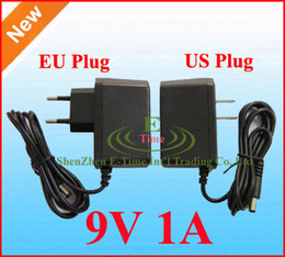 50pcs Lot High Quality AC 100-240V to DC 9V 1A Power Adapter Supply 9V adaptor US EU Plug DHL free shipping
