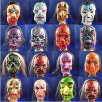 Wholesale Hair Mask Halloween Mask The Whole Mask Terrorist Mask Rubber Grimace Mask
