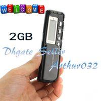 2GB MP3  Fashion 10PCS 2GB Mini Digital Voice Recorder Telephone Recording With MP3 U disk Building Speaker