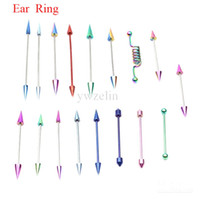 Wholesale Anodized titanium Ear Studs Plug Ear Expander Rings Piercing Body Jewelry MixedLot ERBJ34