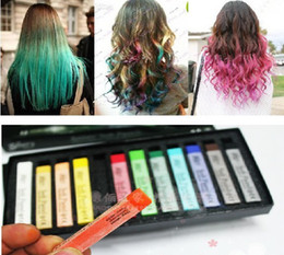 Wholesale Chalk Color Hair Temporary Hair Color Dye Pastel Chalk Bug Rub Soft Fencai Bar Pieces Set