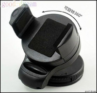 Wholesale Black Universal Car Windshield Mini Holder Swivel Mount for all Cell Phone with retail packing