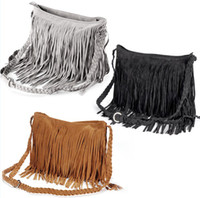 Wholesale Celebrity Girl Tassel Fringe Faux Leather Messenger Satchel cross body Shoulder Bag
