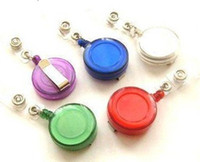 Wholesale Hot Selling ID holder name tag card key Badge Reels Round Solid Translucent Plastic Clip