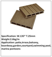 Wholesale waterproof and anti crack outdoor wpc decking flooring W T25 mm