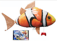 Wholesale Bag mail Can toys Remote control flying fish Inflatable toys monitor sharks
