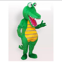Wholesale Lovely Crocodile Adult Mascot Funny Costume Halloween Cartoon Fancy Dress Suit