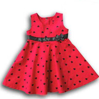 Wholesale baby girls dresses kids skirts children s black heart short sleeve infant girls dresses B