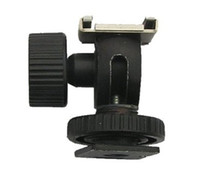 Wholesale Tilt Shoe Hot Shoe Holder Swivel Bounce Flash light stand Shoe adapter Ball Head bracket mount