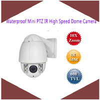 Wholesale New Waterproof Mini X Zoom PTZ IR m tvl High Speed Dome Camera