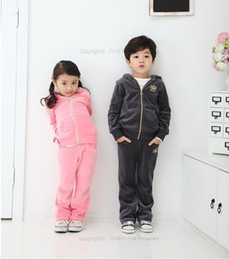 Wholesale Boys Tracksuits Girls TracksuitsSport suit children velvet suits specialize baby clothes