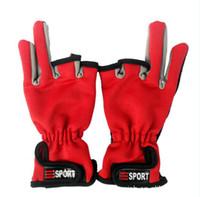 Wholesale Three finger fishing gloves non slip gloves fishing rod wear gloves scratch fishing essential