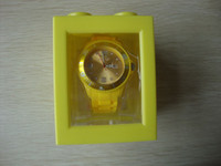 Wholesale 50pcs high quality quartz silicone calendar fashion jelly watch with date and plastic box mix