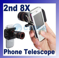 Wholesale 8 x Zoom Optical Lens Mobile Phone Telescope Camera nd a Universal Holder
