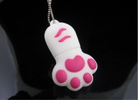 Wholesale Flash Top selling Cat Feet usb flash memory usb1GB GB GB GB GB GB flash drive