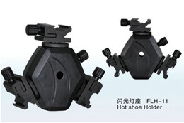 Flash LED Video light stand Hot Shoe Holder FLH-11 Swivel lighting hot shoes Bracket Mount