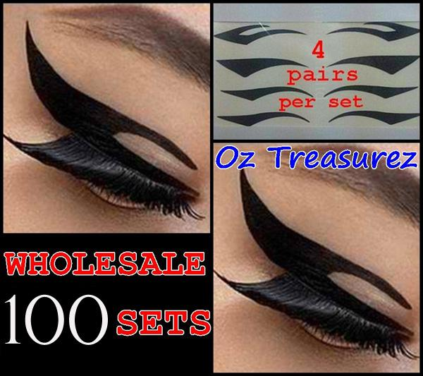 Dhl shipping eyeliner tattoo sticker temporary tansfer cat wing