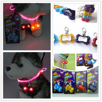 Wholesale LED dog pendant flash dog tag pet charms dog accessories Red Yellow Blue purple