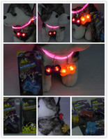 Wholesale LED dog pendant flash dog tag pet charms Bone Style drop shipping