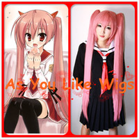 Wholesale Aria the Scarlet Ammo Aria Holmes Kanzaki Kanzaki H Aria Pink Anime Cosplay Party Hair Full Wig M126