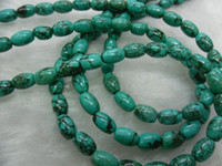 Wholesale 6x8mm Natural Turquoise barrel shape beads Semi precious stone loose beads