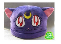 Wholesale Sailor Moon Purple Cat Luna Plush Hat Costumes Cosplay