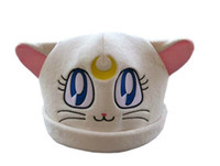 Wholesale Sailor Moon White Cat Luna Plush Hat Costumes Cosplay