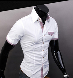Wholesale New Arrival Men s Shirts Business leisure Shirts Casual Slim fit Stylish Dress Shirts Color
