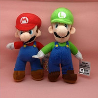 Wholesale NEW SUPER MARIO BROTHERS inches cm PLUSH quot MARIO AND LUIGI quot DOLLS mario and luigi plush doll toys