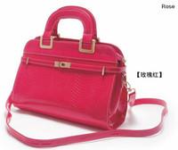 Wholesale Lollipop Color Elegant Wedding Bags for Women Croco Leather Handbag Messenger Bags Party Case