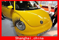 Wholesale Most Fashion D Car Eyelashes Creative D Car Logo Stickers Lashes Decorations Accessories Gifts