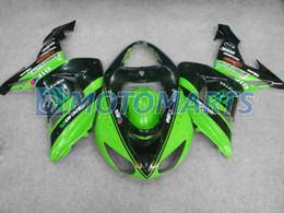 Green black body kit FOR Kawasaki ninja ZX-10R 2006 2007 ZX10R 06 07 ZX 10R fairing set & gifts