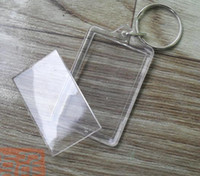 Wholesale Acrylic Blank key rings Rectangle round squared many different shapes can insert photos