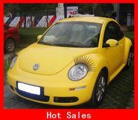 Wholesale Most Beautiful Eyelash Car Logo Sticker Lashes Decorations Accessories D Car Eyelashes Auto Part