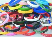 Wholesale silicone wristband sports wrist bands rubber bracelets random send