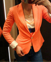 Wholesale 03 promotion new fashion women suit blazer coat multi candy colors outerwear