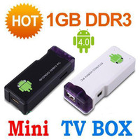 Wholesale MK802 Smallest Google Tv Box Android4 G DDR3 GB A10 Cortex A8 Ghz Wifi TV Player Box Free DHL