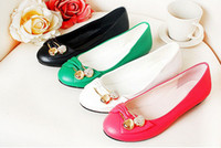 Wholesale 2013 Very hot shoe Women s Low heeled shoes lady Dress Shoes four color
