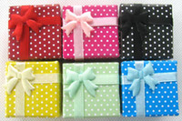 Wholesale New Fashion Multicolor Ribbon Bow Paperboard Jewelry Ring Necklace Jewelry Gift Box x4cm