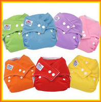 Wholesale Adjustable anti bacterial breathable Babyland button Diapers Baby Cloth Diapering washable lkdp