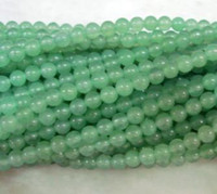 Wholesale 4mm mm mm mm Natural Green Aventurine Round Jade Gemstone Loose Beads inch AAA