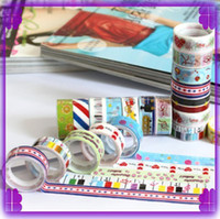 Wholesale 200pcs Washi Masking Paper Tape Colorful Sticky Creative Stationery DIY Grid Stickers Children Gifts