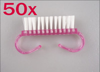 Wholesale 50pcs Nail Cleaning Clean Sweep Brush Tool Care Manicure Pedicure Dust Small angle brushes