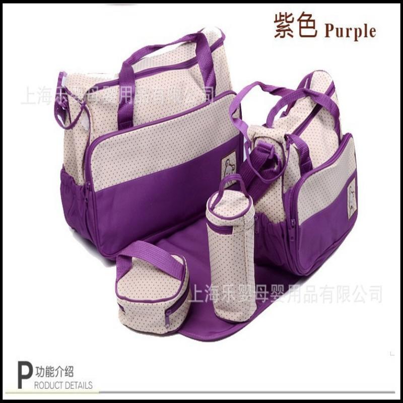 Baby Girl Diaper Bags Pink Multi Function Baby Diaper Bag