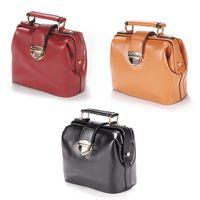 Red doctor bag - small size Europe Retro Handbags DOCTOR BAG Soulder Briefcase Handbag Crossbody bag Tote