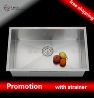 Wholesale 3218C sus304 gauge under mount single Rectangular kitchen sink Stainless Steel handmade Sink