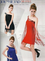 Wholesale New Arrivals sexy corset sloping shoulder paillette dress stage costume colors