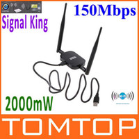 Wholesale High Power Signal King mW DBI USB Wireless Adaptor SignalKing WN Wifi Antenna Mbps C1366